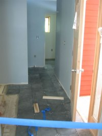 Slate in hallway